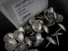 50 LARGE 19mm UPHOLSTERY NAILS Matt sheen silver PEWTER domed head pins studs